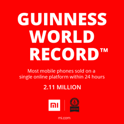 Xiaomi Guinness World Records teaser