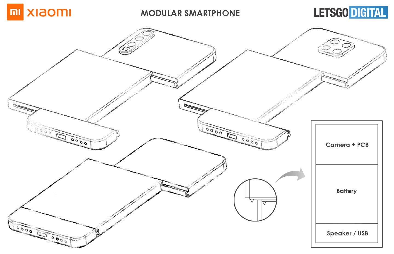 Xiaomi smartphone modulaire brevet