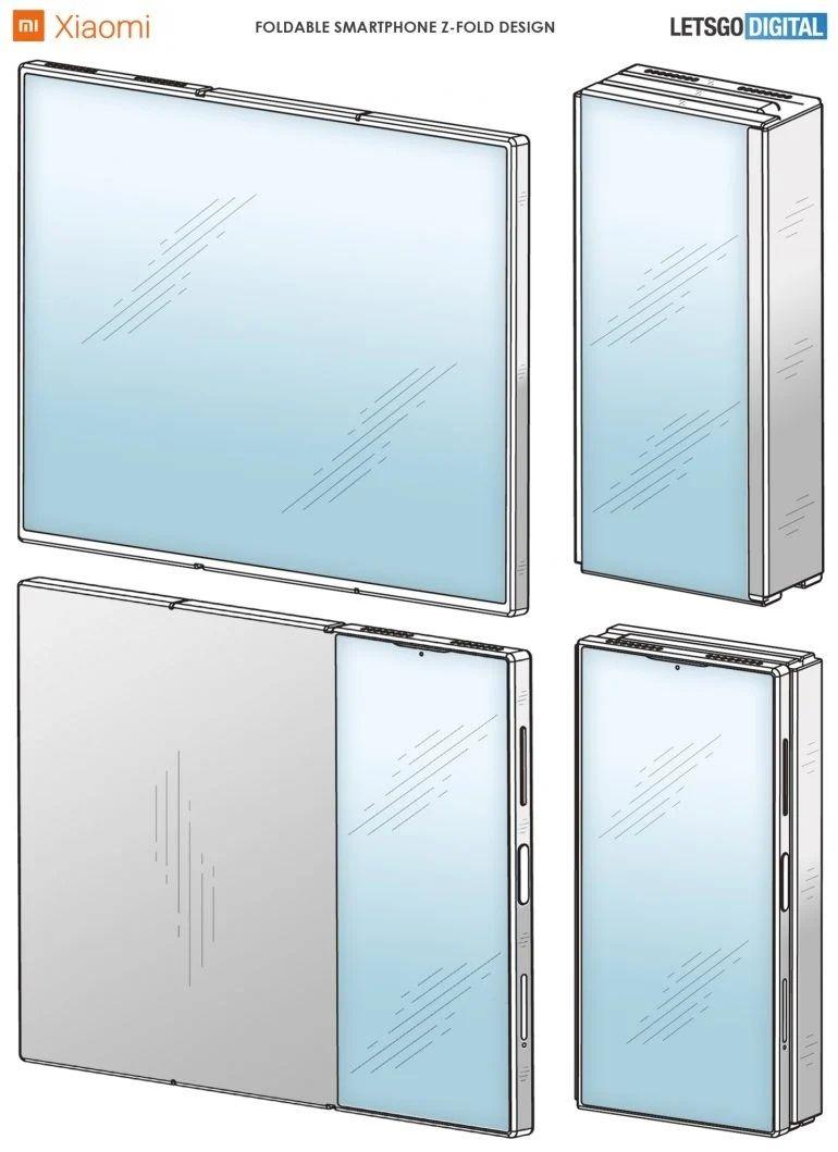 Xiaomi smartphone repliable Z brevet