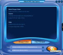 Xilisoft DVD Copy Express screen