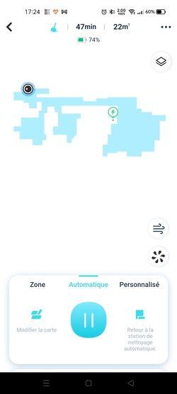 Yeedi Mop Station cartographie