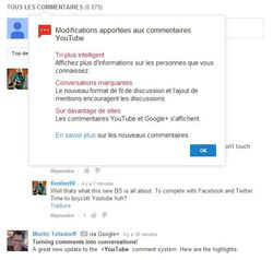 YouTube-commentaires