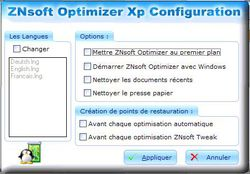 ZNsoft Optimizer Xp screen 2