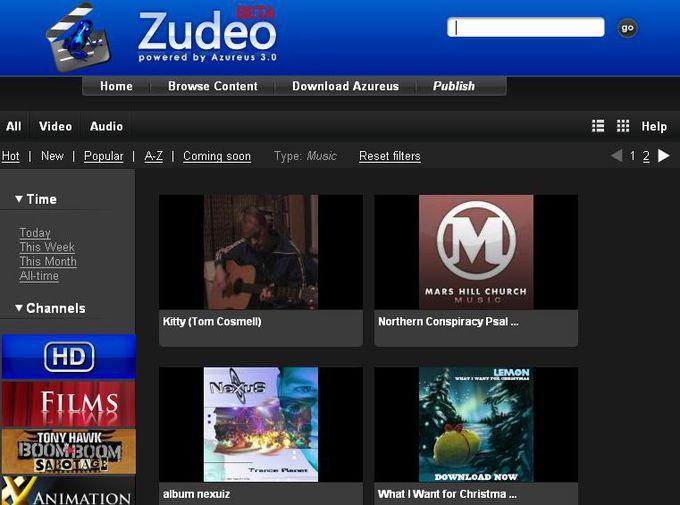 Zudeo : page d'accueil